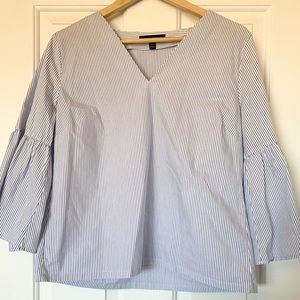 Blue and White Stripe Blouse